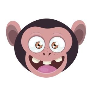 Bügelbild Monkey 5