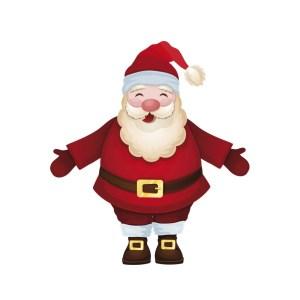 Bügelbild Santa