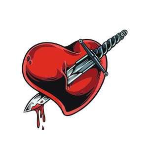 Bügelbild Sword Heart