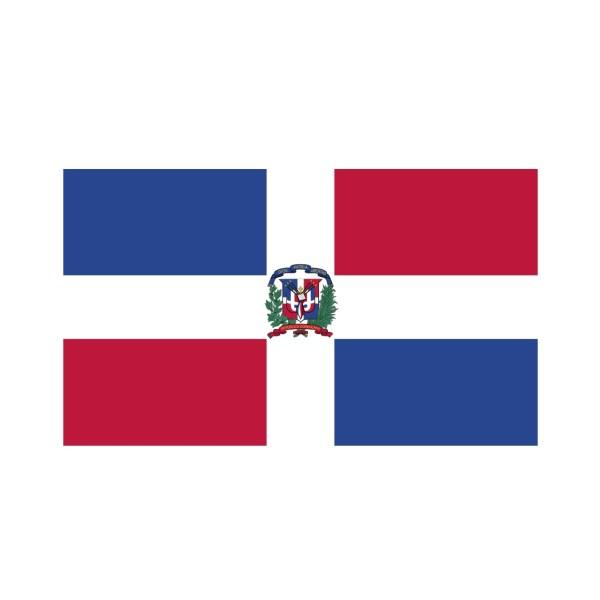 Bügelbild Dominikanische Republik Flagge