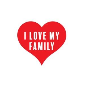 Bügelbild I Love My Family