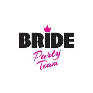 Bügelbild Bride Party Team