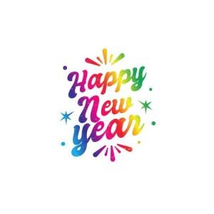 Bügelbild Happy New Year
