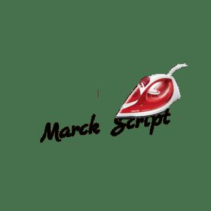 """Wunschtext """"Marck Script"""" als Bügelschrift"""