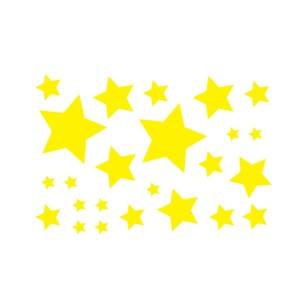 Bügelbilder Set Sterne gelb solid
