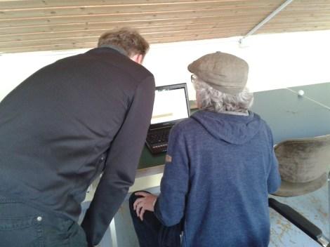 Andreas und Robert beim Technikcheck
