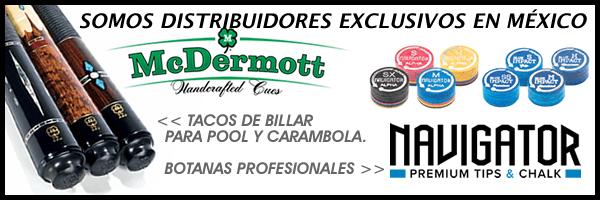Tacos de Billar Pool / Tacos de Billar Carambola - McDermott Cue