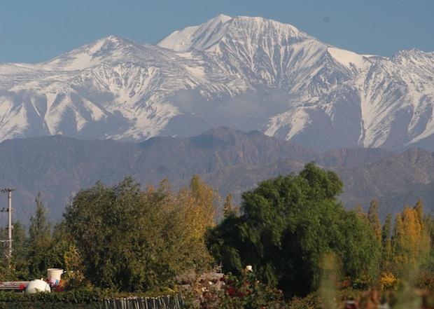 Vista da Cordilheira dos Andes