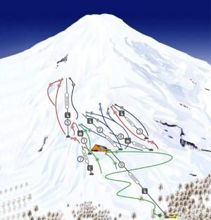 mapa pista esqui villarica pucon