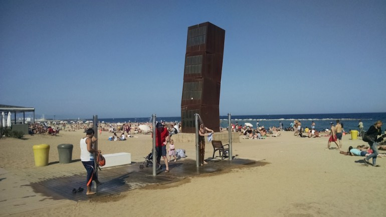 praias barcelona estrutura