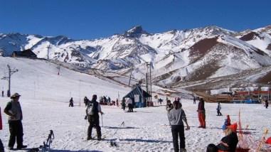 Estação de esqui perto de Mendoza
