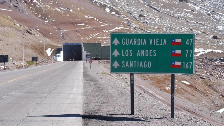 placa estrada ruta mendoza santiago