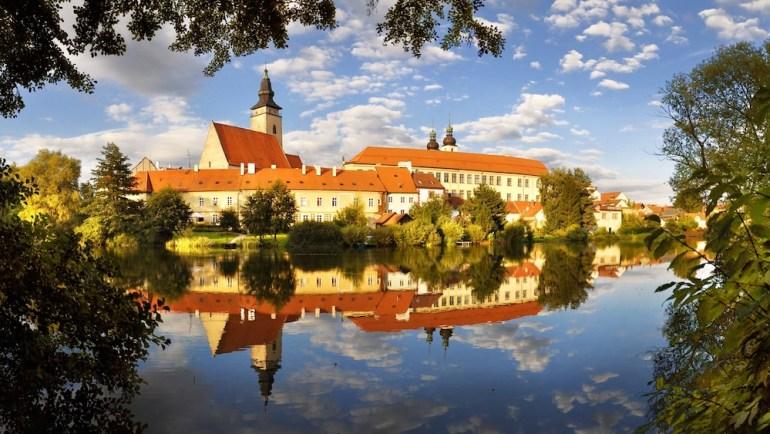 telc-lago-centro-historico-republica-tcheca