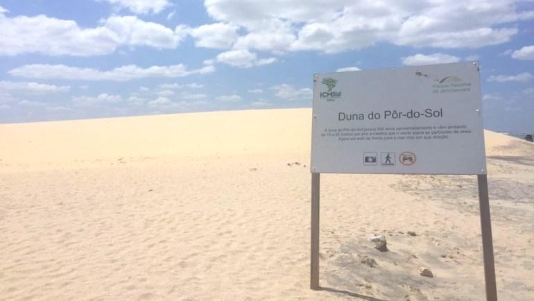 entrada duna do por do sol jericoacoara