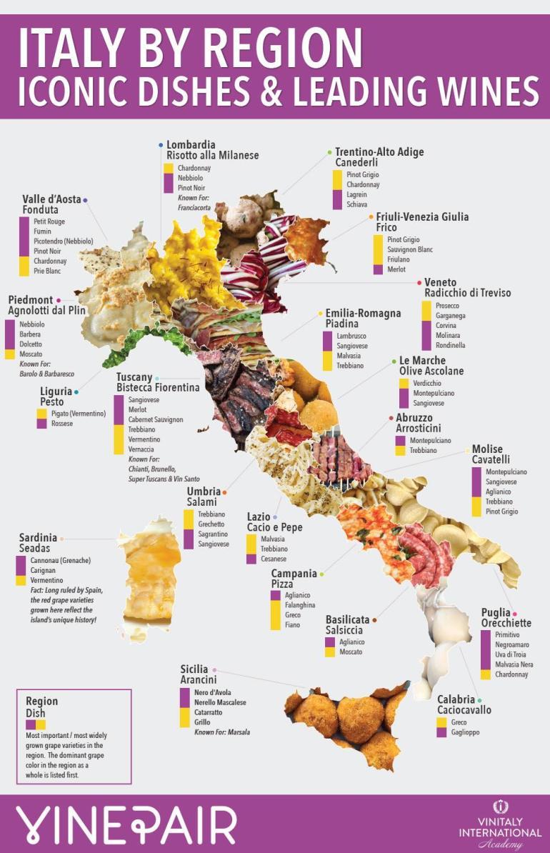 mapa italia comidas
