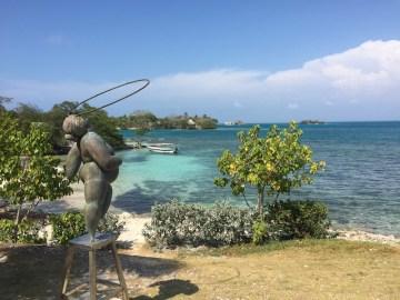 Estátua no resort e hotel Gente de Mar