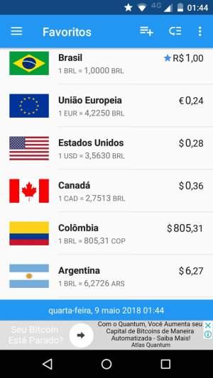 melhor aplicativo de conversão de moedas para android viagem