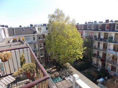 Vista do meu Airbnb em Amsterdam, no bairro de Westerpark