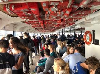 Ferry para Toronto Island, onde fica a praia