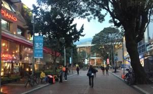 Rua da Zona-T, na Zona Rosa de Bogotá