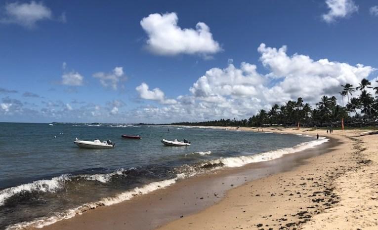 Barcos na Praia do Tivoli