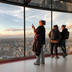 Visitantes na CN Tower