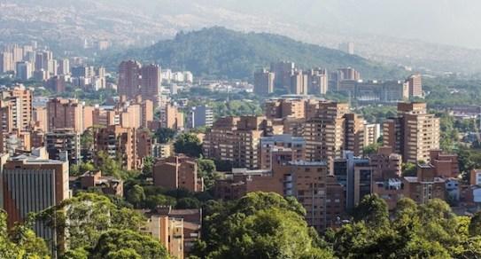 Mirante em Medellín