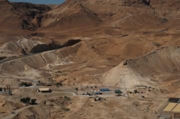 Vista ao alto de Masada