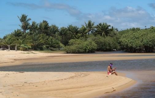 Riacho na Praia dos Nativos