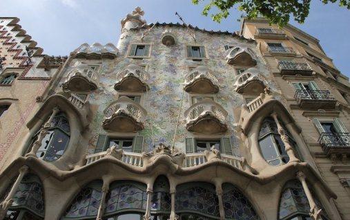 Casa Batlló, de Gaudí, no Eixample