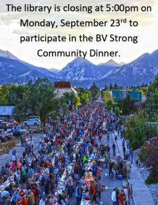 Closing Early @5pm - Community Dinner