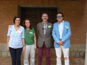 Juan Manuel Buergo, primero por la derecha, en un encuentro en Guadalajara en septiembre. Crédito: Facebook