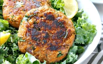 Cocina con Buenmercadoacasa: Burguer vegana de kale y alubias con boniato al horno