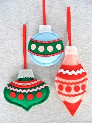 Manualidades navideas Pjaros de tela para el rbol Bueno