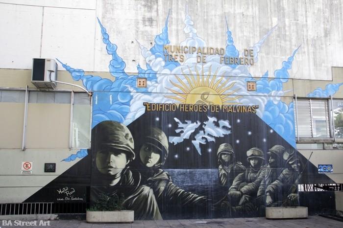 Murales a Buenos Aires per ricordare gli eroi delle Malvinas. Credits to BA Street Art | Numerosette Magazine