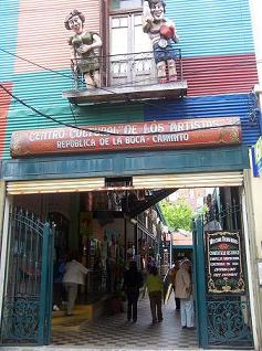 Shopping galeria that used to be tenement housing, La Boca