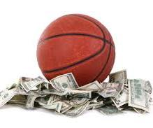 basketball and cash