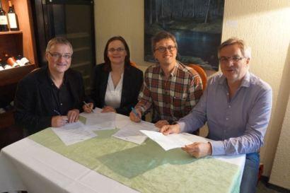 Unterzeichnung Kaufvertrag