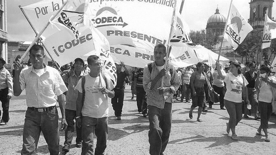 CODECA lanza reto nacional al Estado