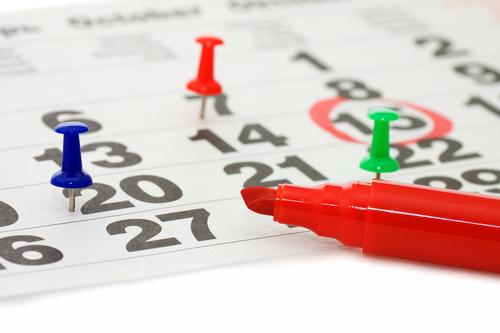 Calendario de días inhábiles para 2017