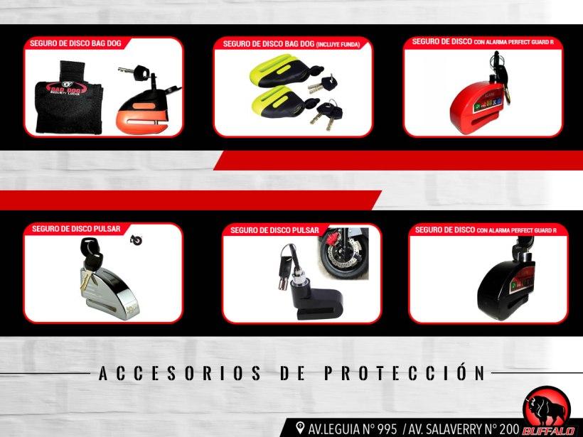 Accesorios de protección para evitar robos