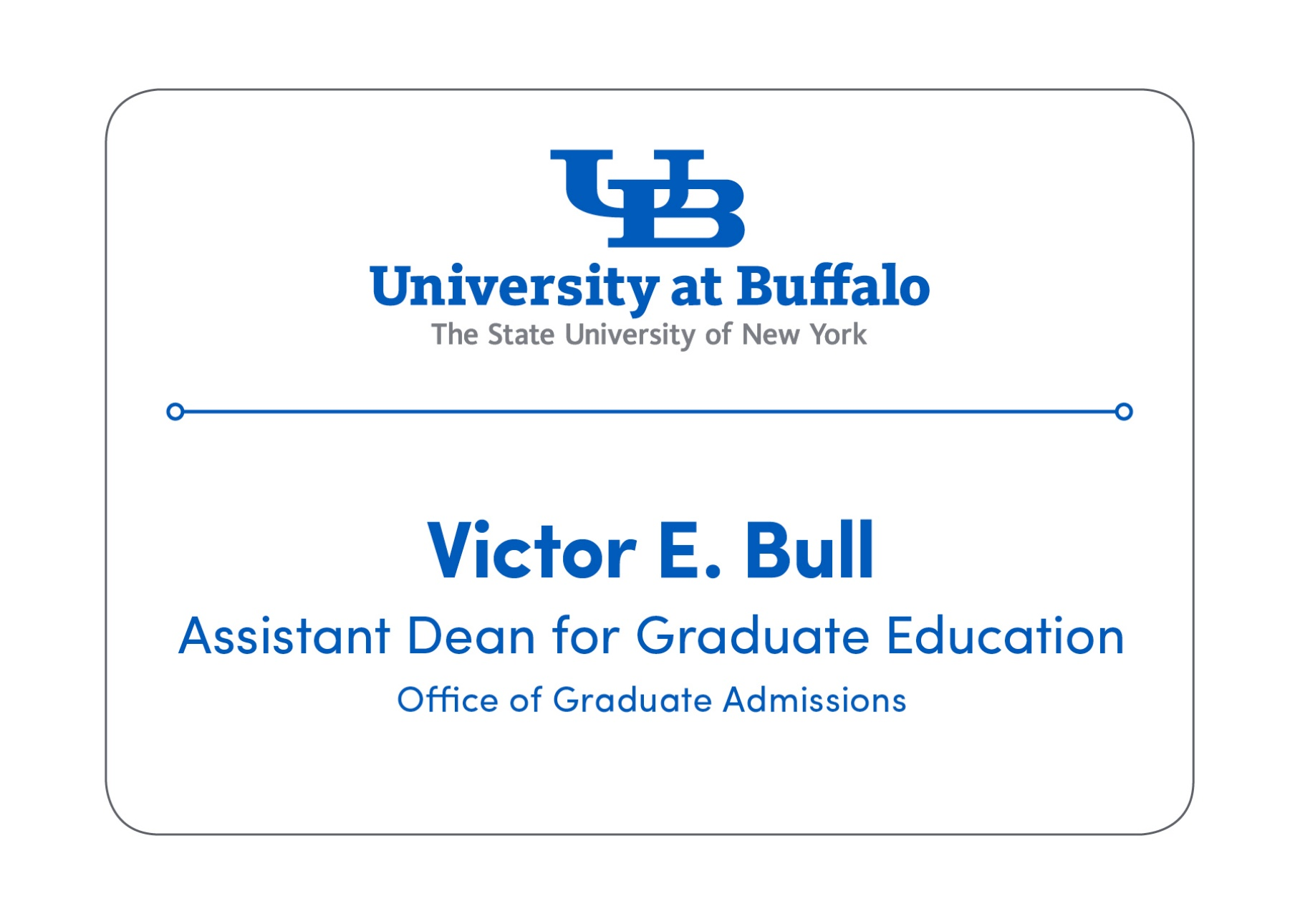 Name Tags Identity And Brand University At Buffalo