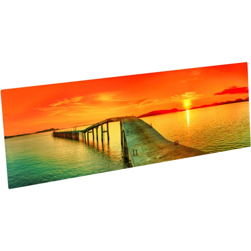 ChromaLuxe Glossy White Metal Photo Panel