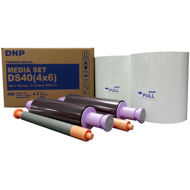 "DNP DS40 4x6"" Dye Sub Printer Media Kit (2 Rolls, 800 Prints)"