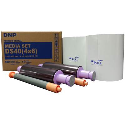 "DNP DS40 4x6"" Dye Sub Printer Media Kit (2 Rolls, 800 Prints)"