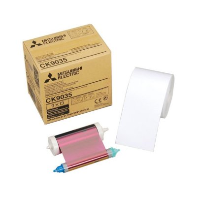 Mitsubishi CK-9035 3.5x5 Paper & Ribbon Media Kit for CP-9550DW & CP-9810DW Dye-Sub Printer