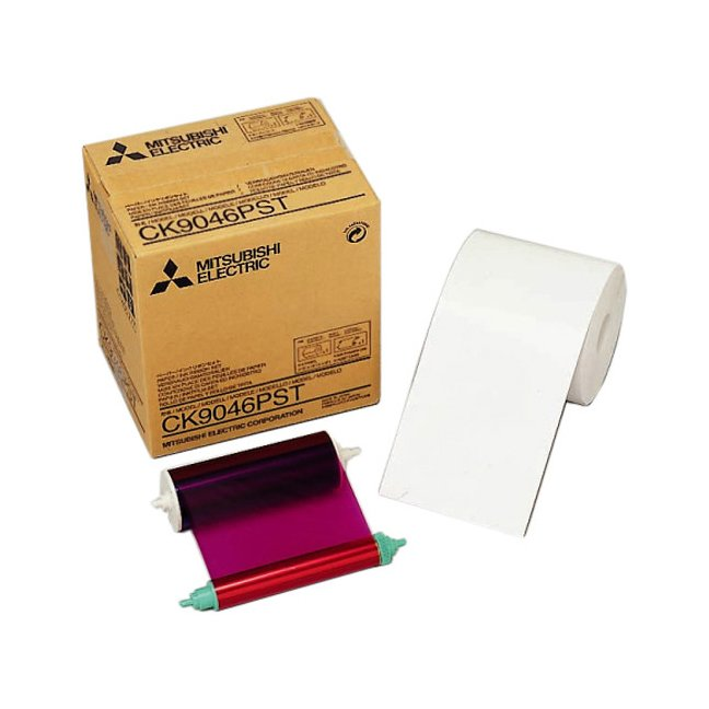 """Mitsubishi CK-9046PST 4x6"""" Postcard Paper & Ribbon Media Kit for CP-9550DW & CP-9810DW Dye-Sub Printer"""