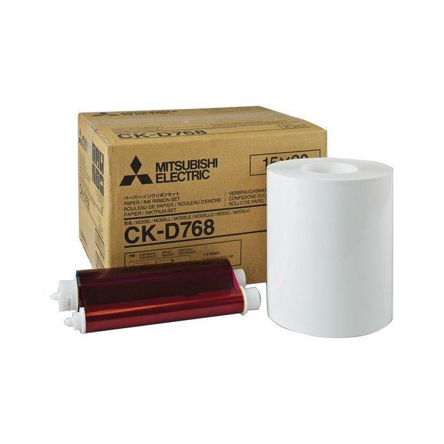 "Mitsubishi CK-D768 6x8"" Paper & Ribbon Media Kit For CP-D70DW, CP-D707DW & CP-D90DW Printer"