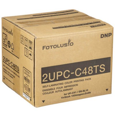 "DNP 2UPC-C48TS 4x8"" Perforated Media Kit for SnapLab and CX1 Printers (2 Rolls, 300 Prints)"