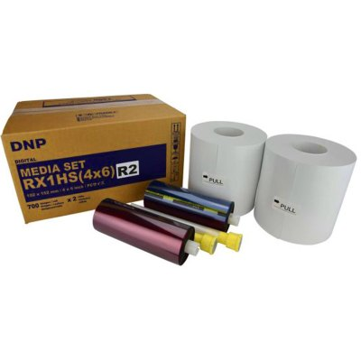 "DNP DS-RX1HS 4x6"" Single Perforated Dye Sub Printer Media Kit (2 Rolls, 1400 Prints)"